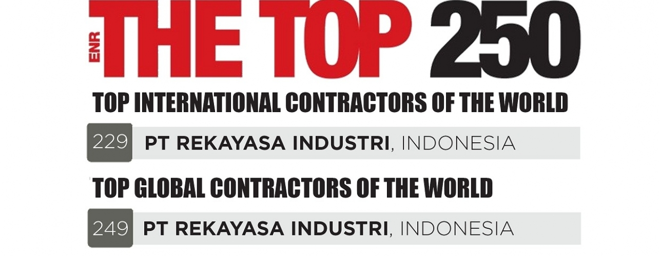 Rekind is listed in The Top 250 Global & International Contractors issued by ENR in 2016